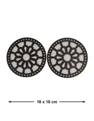 Ahşap Çanta Kenarlığı - Çap 18 cm - KTU08T