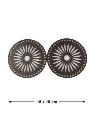 Ahşap Çanta Kenarlığı - Çap 18 cm - KTU6T
