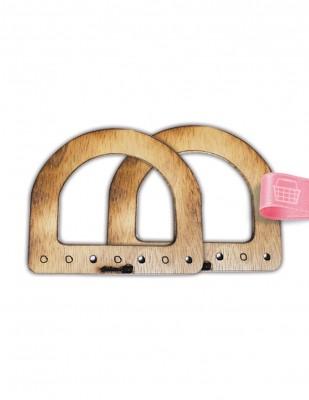 - Ahşap Çanta Sapları, Çanta Kulpları - 11,5 x 13 cm - ACS08