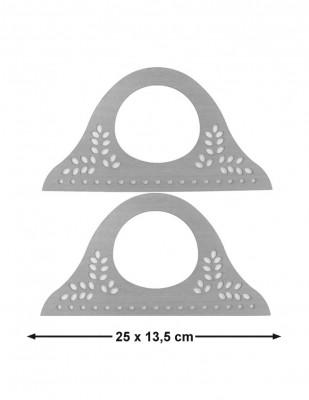 - Ahşap Çanta Sapları, Çanta Kulpları - 25 x 13,5 cm - KTU19T