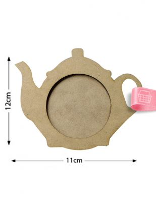 Ahşap Çay Tabağı, Bardak Altlığı - Demlik Figürlü Ahşap Tabak - KB2T