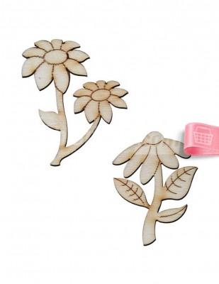 - Ahşap Çiçek - 5 cm - KO87T