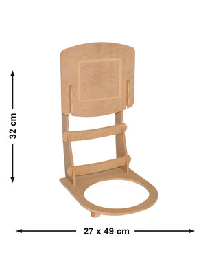 - Ahşap Çöp Kovası - Basket Potası - KM66T