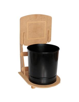 - Ahşap Çöp Kovası - Basket Potası - KM66T (1)