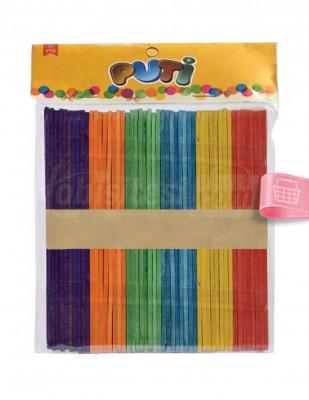 - Ahşap Dil Çubuğu, Renkli - 2 x 15 cm - 50 Adet