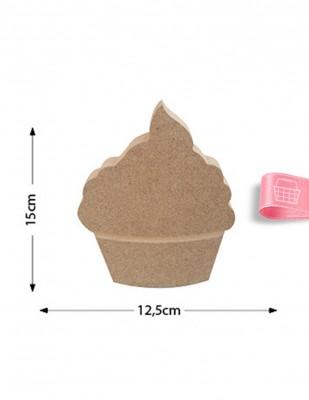 - Ahşap Cupcake Figürü - Kalınlık 18 mm - KF13T