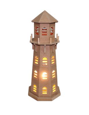 - Ahşap Deniz Feneri - Gece Lambası - KM67T (1)