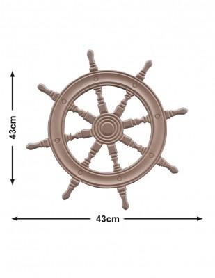 - Ahşap Gemici Dümeni - Ahşap Kapı ve Duvar Süsü, 18 mm - KD36T