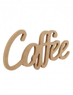- Ahşap Duvar Süsü - Coffee Yazısı - KD50T