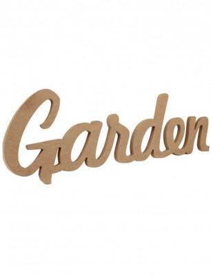 - Ahşap Duvar Süsü - Garden Yazısı - KD58T