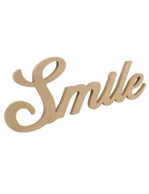 - Ahşap Duvar Süsü - Smile Yazısı - KD53T
