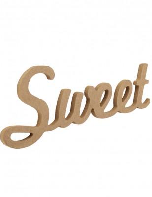 - Ahşap Duvar Süsü - Sweet Yazısı - KD57T
