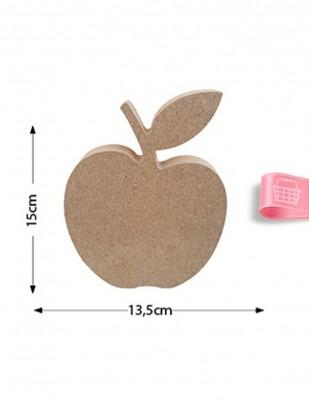 - Ahşap Elma Figürü - Kalınlık 18 mm - KF2T