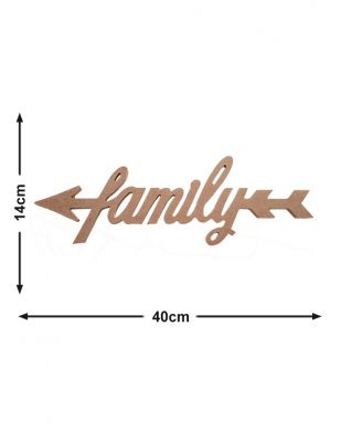 Ahşap Family Yazısı - KD16T