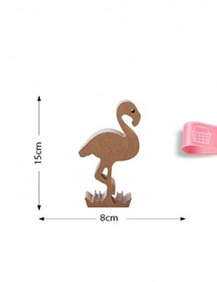 - Ahşap Flamingo Figürü - Kalınlık 18 mm - KF33T