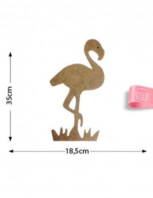 - Ahşap Flamingo Objesi - Büyük Boy Flamingo Kuşu Ahşap Figürü - KD24T