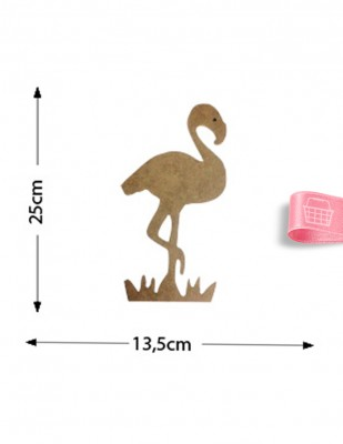 - Ahşap Flamingo Objesi - Flamingo Kuşu Ahşap Figürü - KD25T