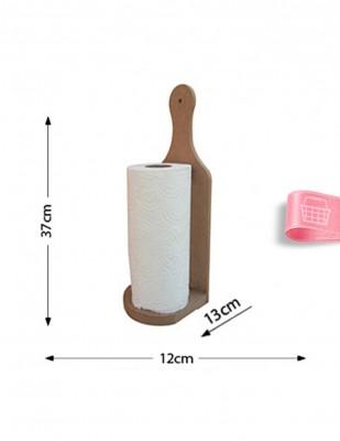 - Ahşap Kağıt Havluluk - Duvara Asılabilir veya Masada Kullanılabilir - KH6T