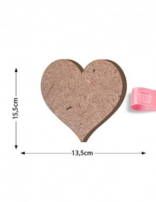 - Ahşap Kalp Figürü - Kalınlık 18 mm - KF23T