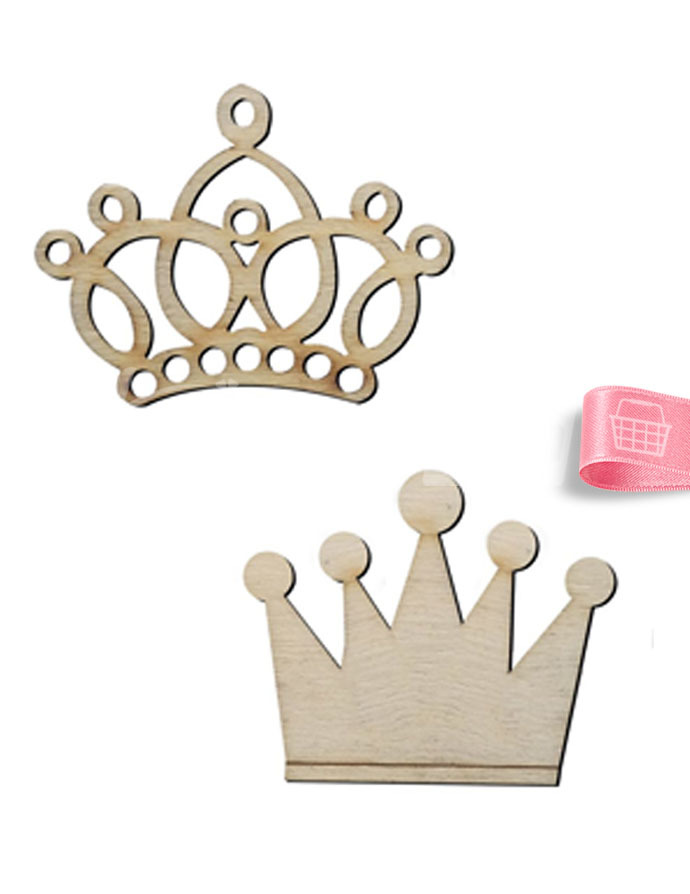 Ahşap Kral Ve Kraliçe Tacı 4 X 4 4 X 5 Cm Ko28t Ahşap Objeler