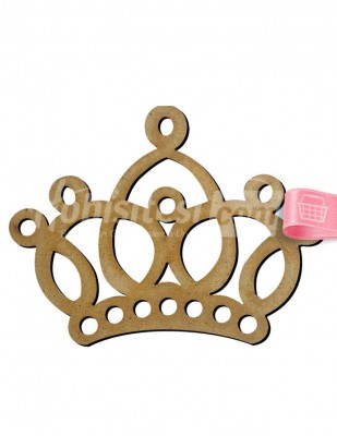 - Ahşap Kraliçe Tacı - 11 x 8 cm - KM13T