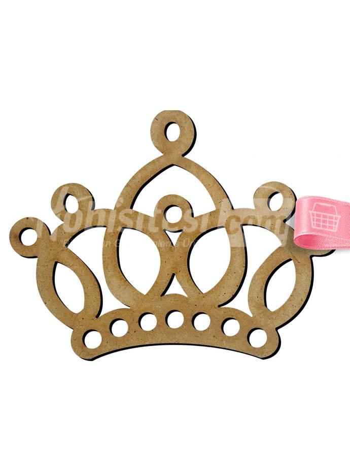Ahşap Kraliçe Tacı 11 X 8 Cm M13 Ahşap Objeler