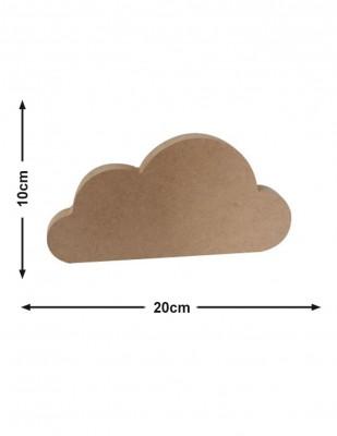 - Ahşap Küçük Bulut - Kalınlık 18 mm - KF55T