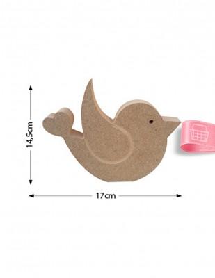 - Ahşap Kuş Figürü - Kalınlık 18 mm - KF15T