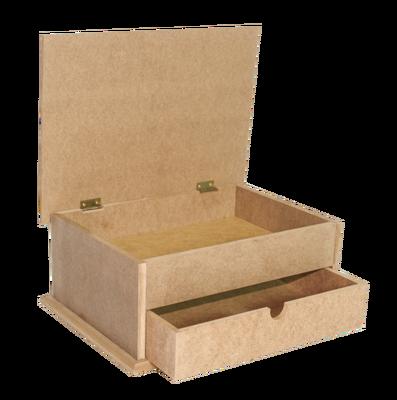 - Ahşap Kutu - Çekmeceli ve Kapaklı Ahşap Kutu - KKU76T (1)