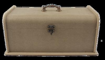 Ahşap Sandık - Kenarı Oval Kulplu Sandık - Ahşap Kutu - KKU84T - Thumbnail