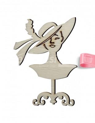 - Ahşap Marilyn Monroe Figürü - 10 x 7 cm - KO48T