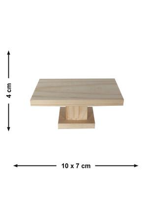 - Doğal Ağaçtan Minyatür Ahşap Masa - KCG26T