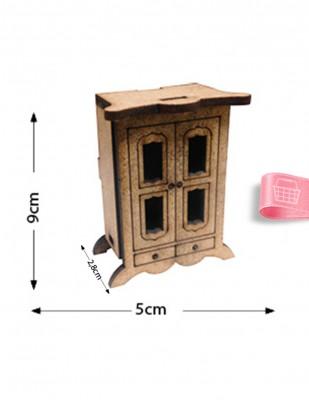 - Ahşap Minyatür - Büfe - KMY54T