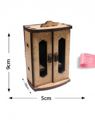 - Ahşap Minyatür - Dolap - KMY55T