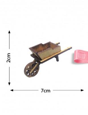 - Ahşap Minyatür - El Arabası - KMY57T