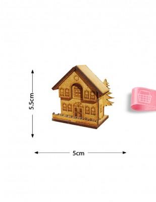 - Ahşap Minyatür - Ev - KMY61T