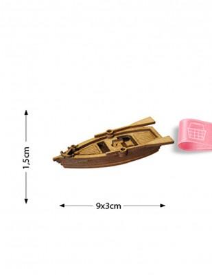 - Ahşap Minyatür - Kayık - KMY60T