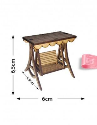 - Ahşap Minyatür - Salıncak - KMY58T