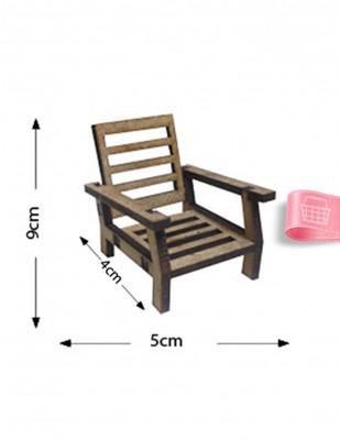 - Ahşap Minyatür - Sandalye - KMY52T