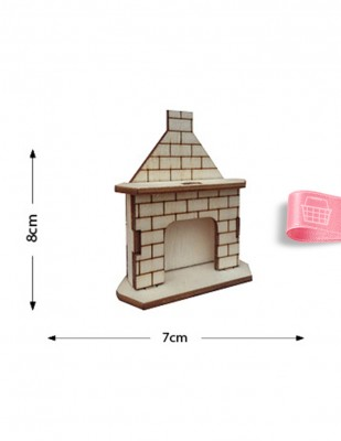 - Ahşap Minyatür - Şömine - KMY13T