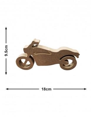 - Ahşap Motorsiklet Figürü - Kalınlık 18 mm - KF38T