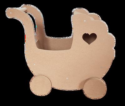 - Ahşap Oyuncak, Ahşap Mini Bebek Arabası - KCHG11T (1)