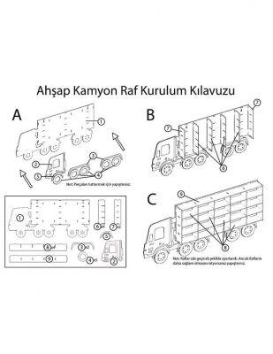 Ahşap Oyuncak - Kamyon Rafı -KCG38T