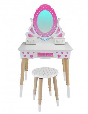Ahşap Oyuncak - Makyaj Masası ve Taburesi - KCG68T - Thumbnail