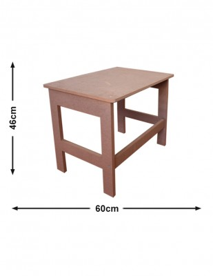 - Ahşap Mini Masa, Ahşap Oyun Masası - G 60 x Y 46 x D 38 cm - KCHG14T