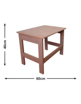 Ahşap Mini Masa, Ahşap Oyun Masası - G 60 x Y 46 x D 38 cm - KCHG14T