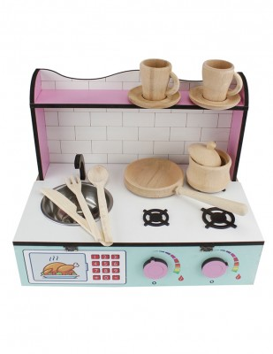 - Ahşap Oyuncak - Masa Üstü Mutfak - KCG61T