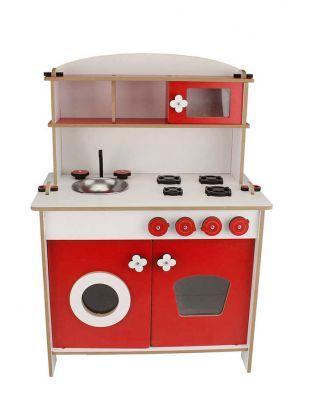 Ahşap Oyuncak - Mutfak - Kırmızı - KCG35T