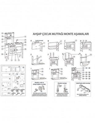 Ahşap Oyuncak - Mutfak - Pembe - KCG34T - Thumbnail