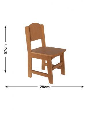Ahşap Mini Sandalye, Ahşap Oyuncak Sandalye - G 29 x Y 57 x D 32 cm - KCHG13T
